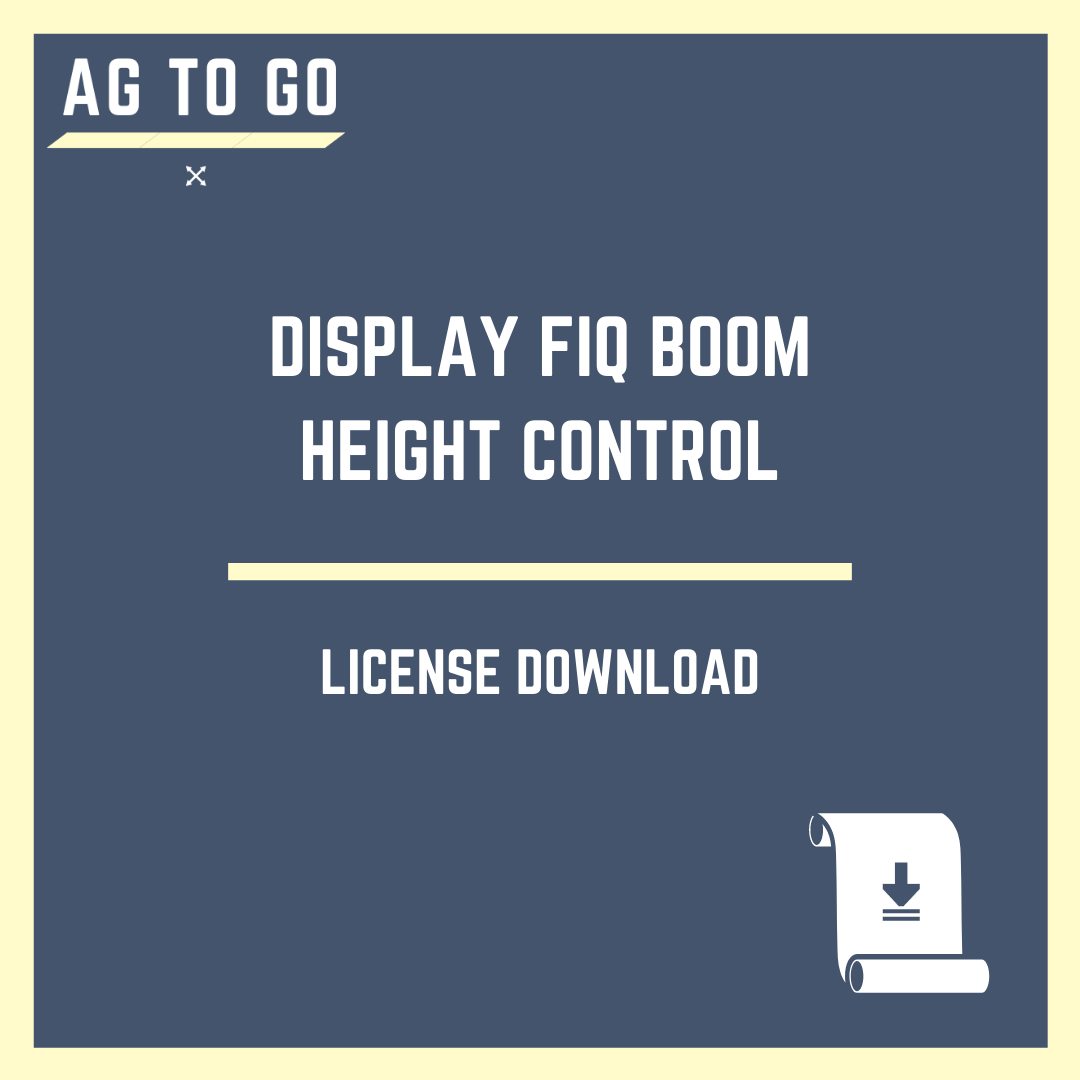 License, Display FIQ Boom Height Control