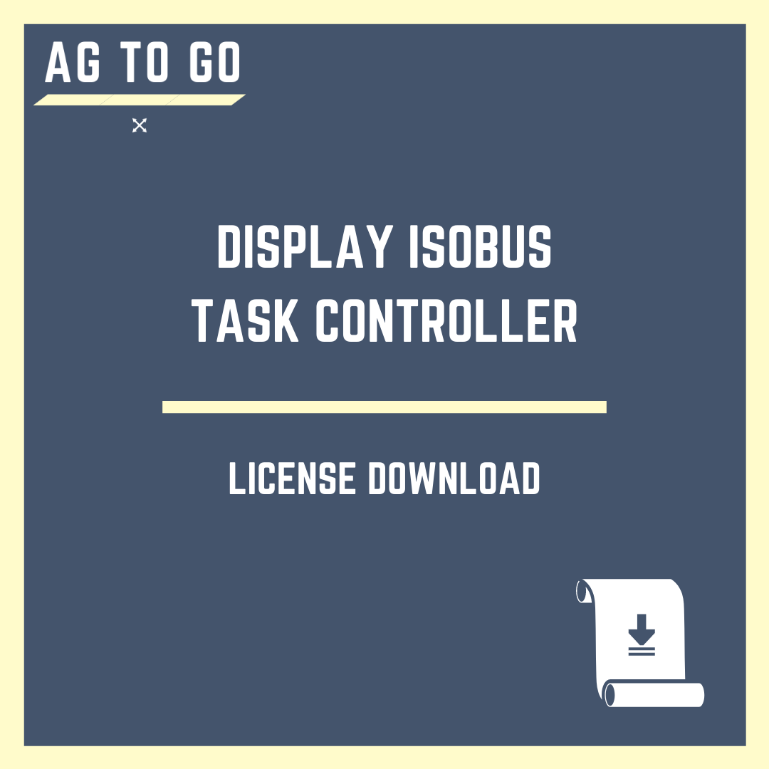 License, Display ISOBUS Task Controller