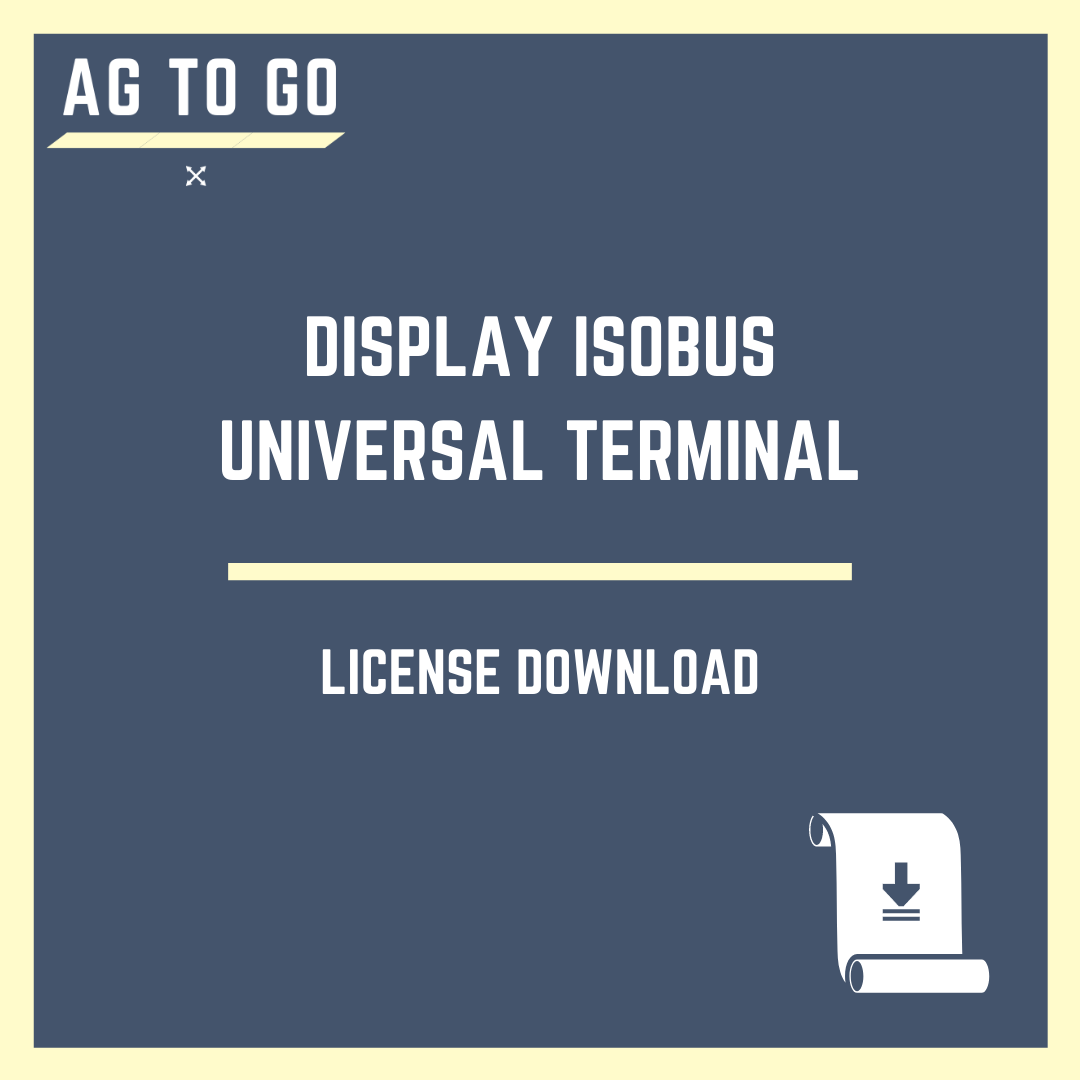 License, Display ISOBUS Universal Terminal