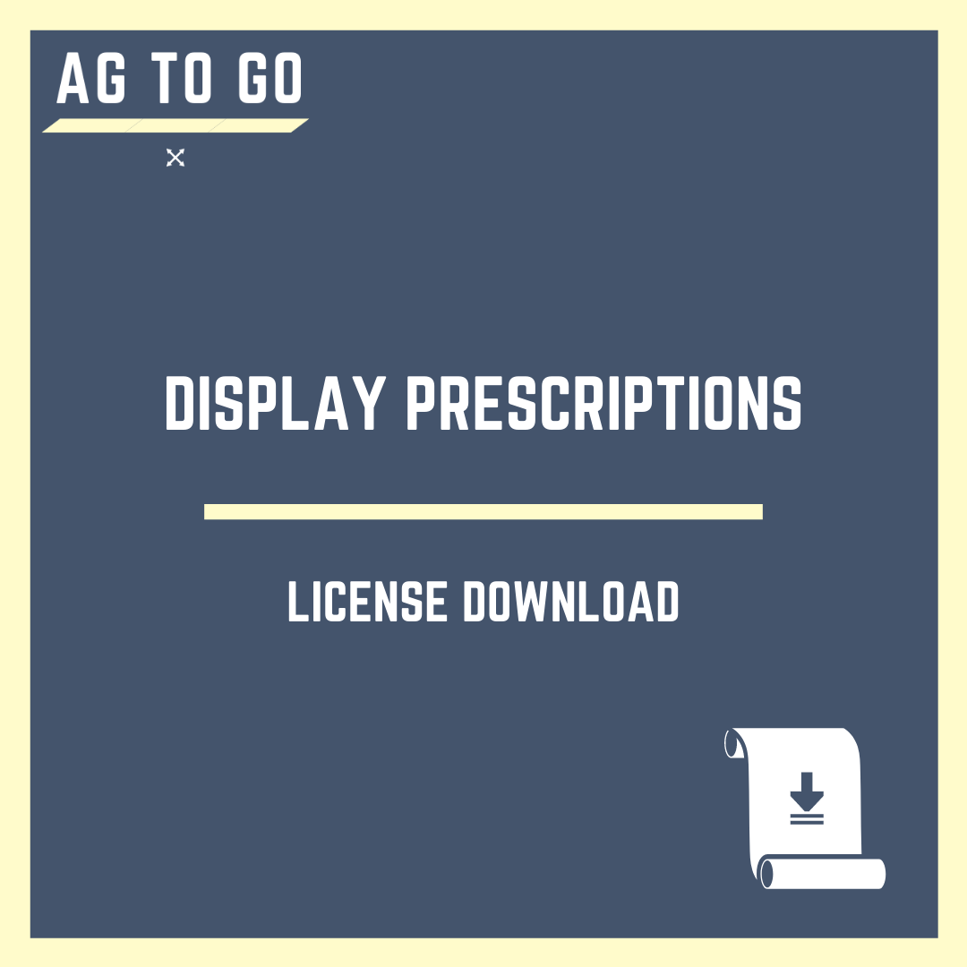 License, Display Prescriptions