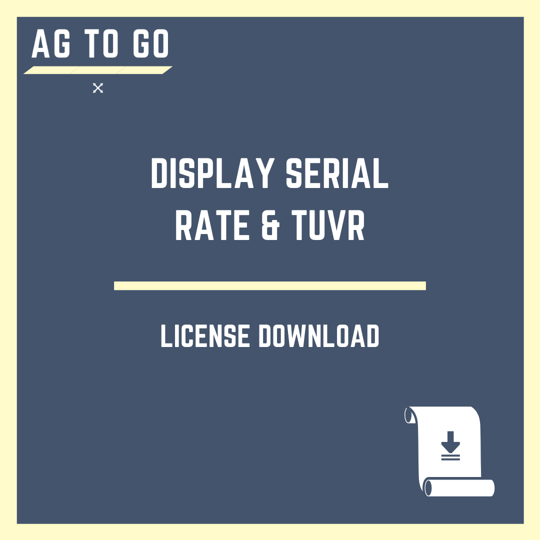 License, Display Serial Rate & TUVR