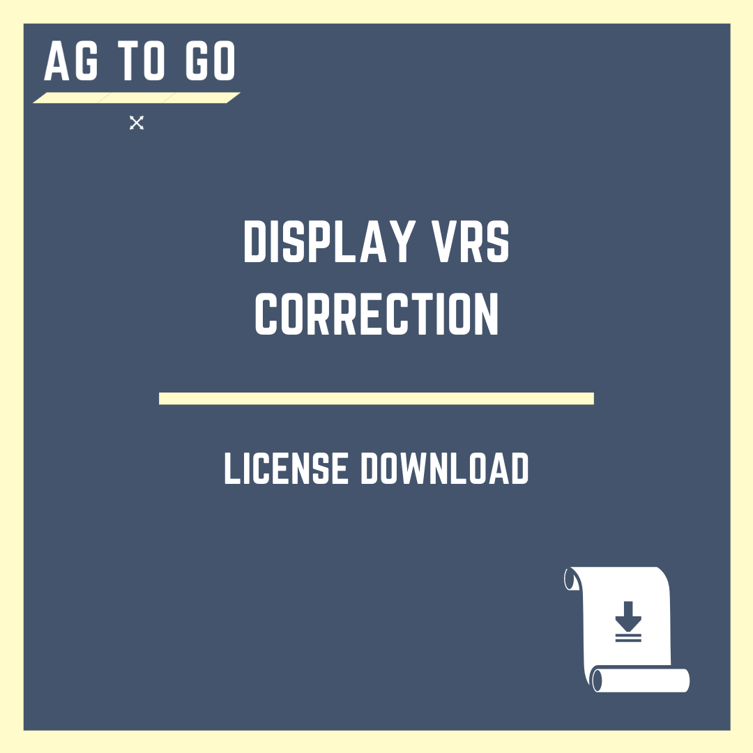 License, Display VRS Correction