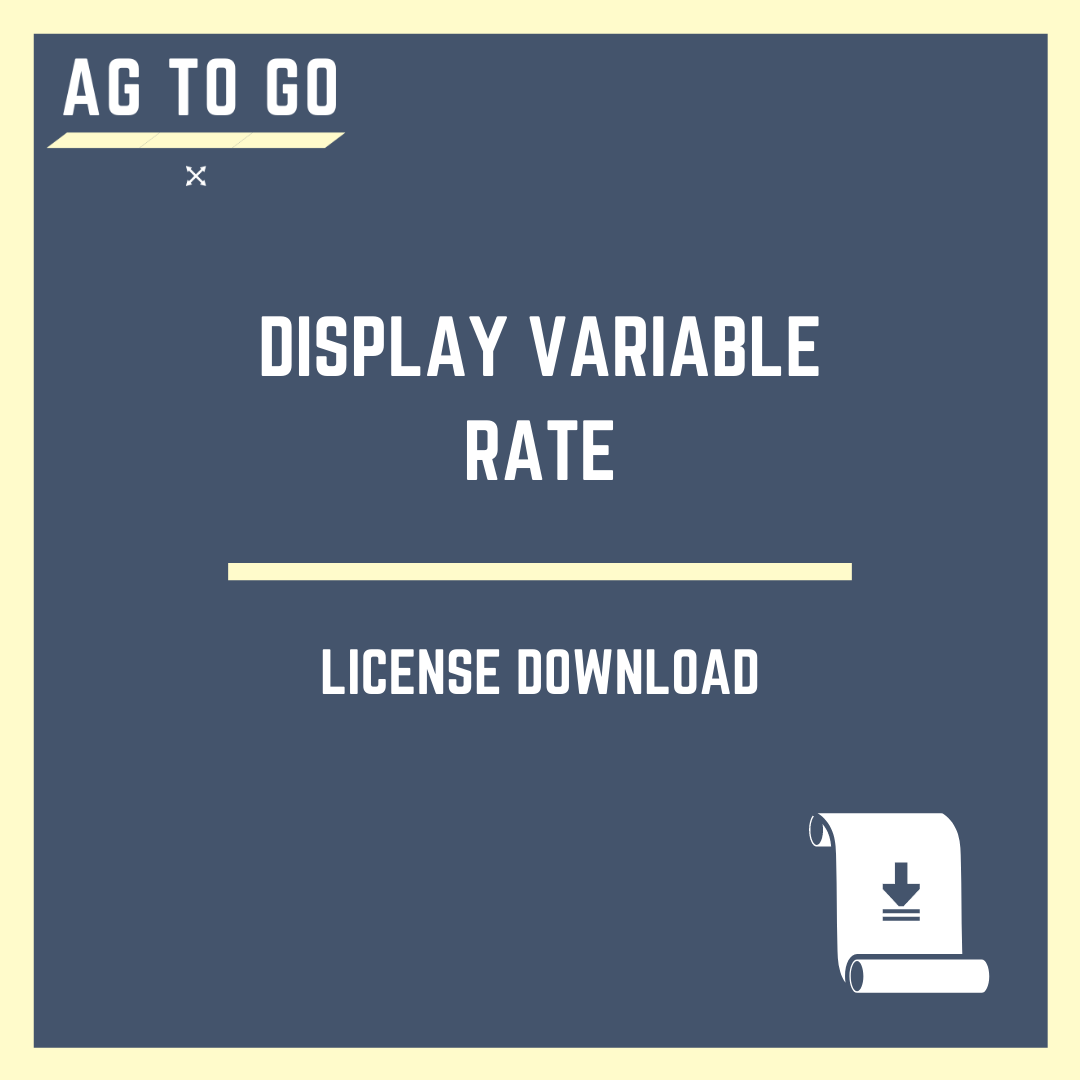 License, Display Variable Rate