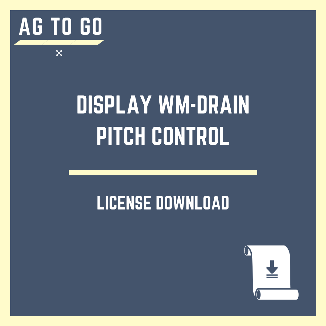 License, Display WM-Drain Pitch Control