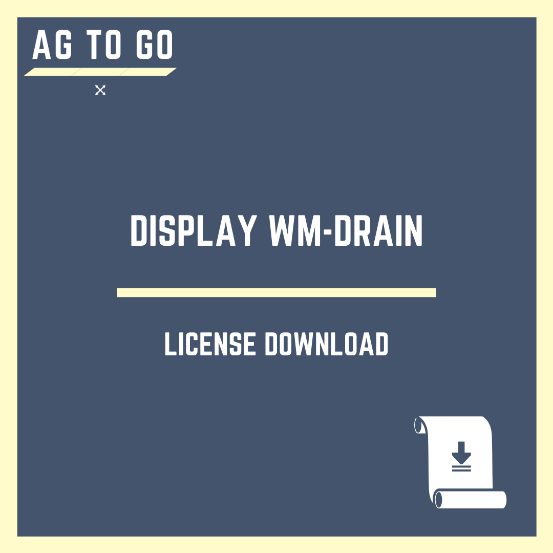 License, Display WM-Drain