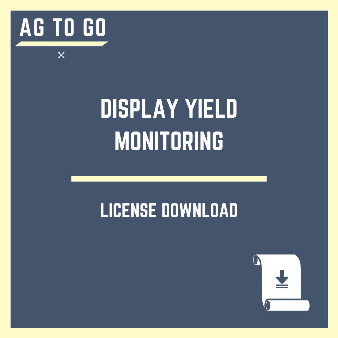 License, Display Yield Monitoring