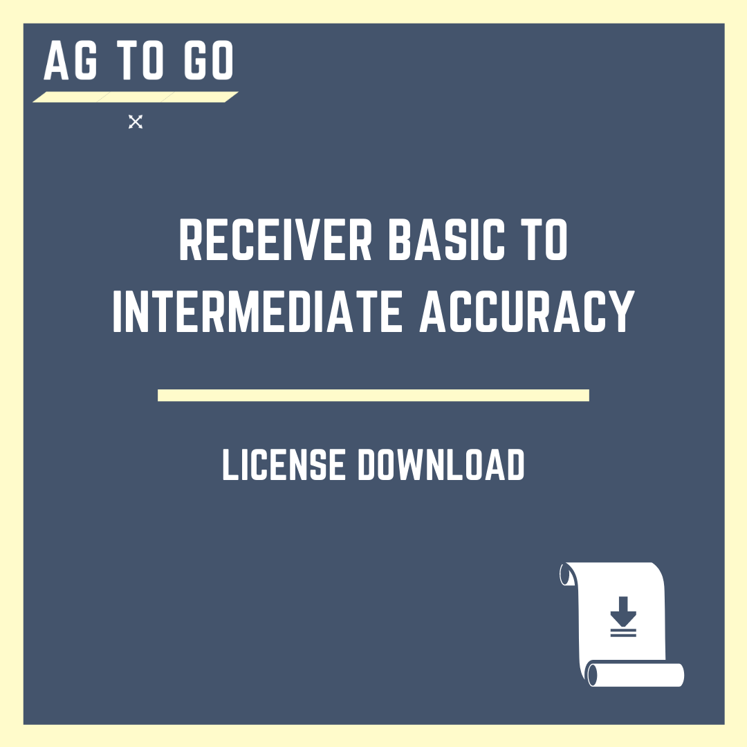 License, Receiver Basic to Intermediate Accuracy