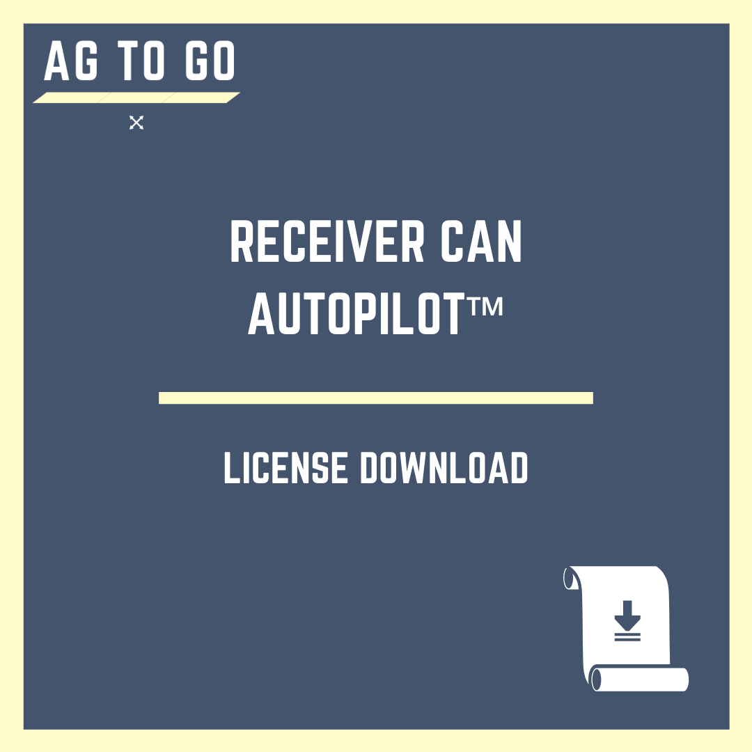 License, Receiver CAN Autopilot