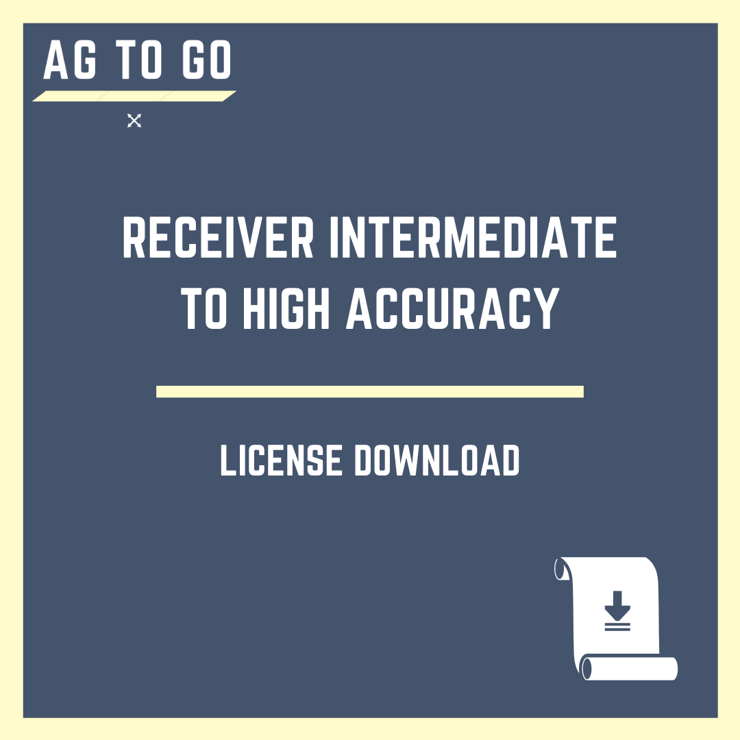 License, Receiver Intermediate to High Accuracy