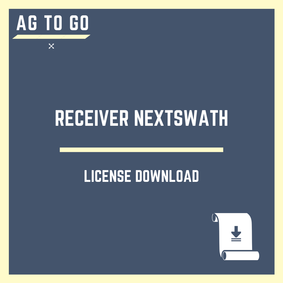 License, Receiver NextSwath