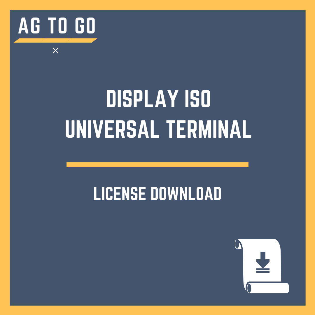 License, Display ISO Universal Terminal