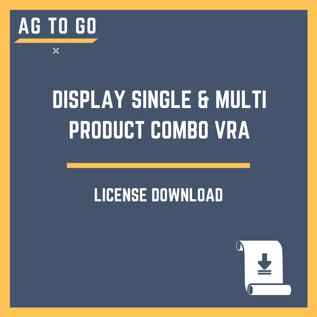 License, Display Single & Multi Product Combo VRA