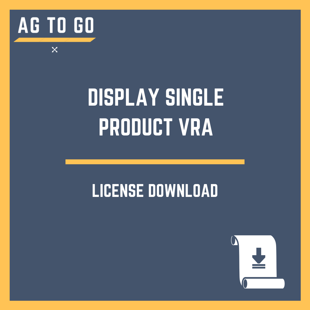 License, Display Single Product VRA