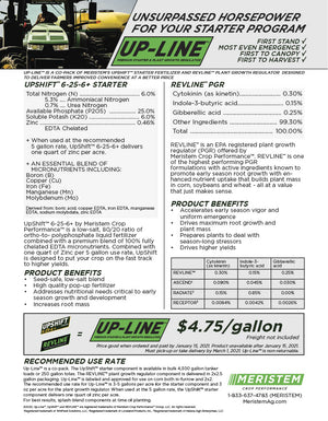 Up-Line™ 6-25-6+ & PGR Pop-Up Fertilizer