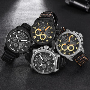 PAGANI DESIGN Chronograph Sports Watch Waterproof Military Design - agearpie