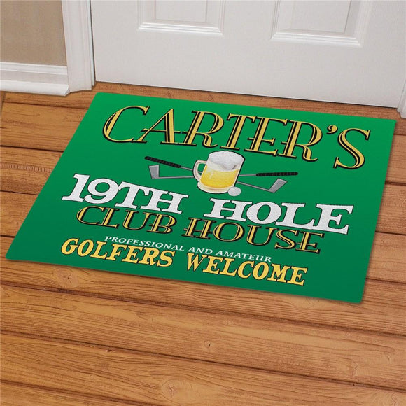19th Hole Personalized Golf Doormat-Personalized Gifts