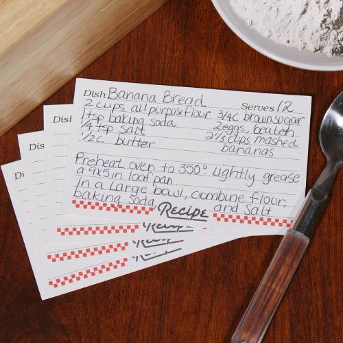 3x5 Recipe Cards-Personalized Gifts