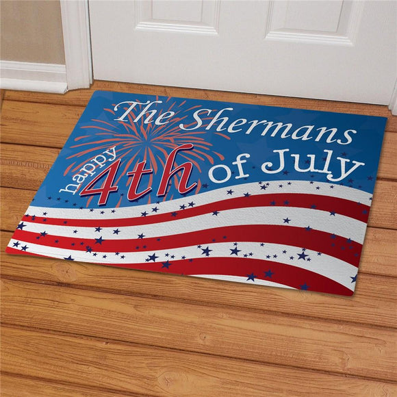4th of July doormat-Personalized Gifts