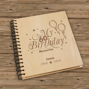 60th Birthday Memories Photo Album-Personalized Gifts