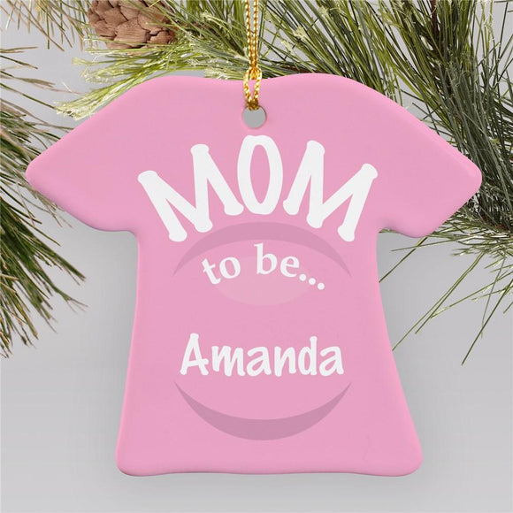 A GIRL Is Arriving T-Shirt Ornament-Personalized Gifts