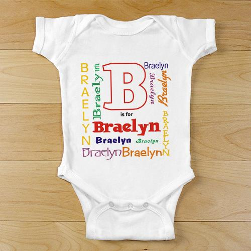A is For... Personalized Infant Bodysuit-Personalized Gifts