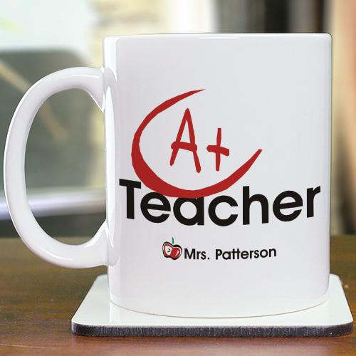 A+ Teacher Coffee Mug-Personalized Gifts