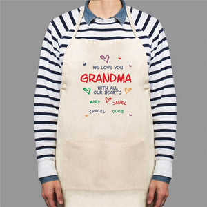 All Our Hearts Personalized Apron-Personalized Gifts