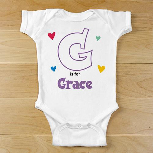 Alphabet Name Infant bodysuit-Personalized Gifts