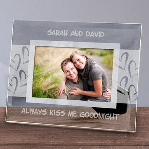 Always Kiss Me Goodnight Glass Frame-Personalized Gifts