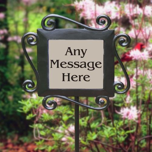 Any Message Here Garden Slate-Personalized Gifts