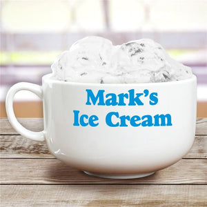 Any Message Here Ice Cream Bowl-Personalized Gifts