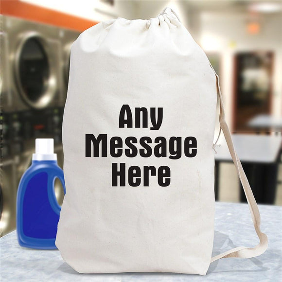 Any Message Here Personalized Laundry Bag-Personalized Gifts