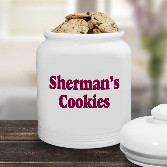 Any Message Personalized Ceramic Cookie Jar-Personalized Gifts