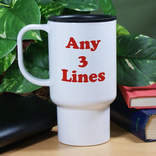Any Message Personalized Travel Mug-Personalized Gifts