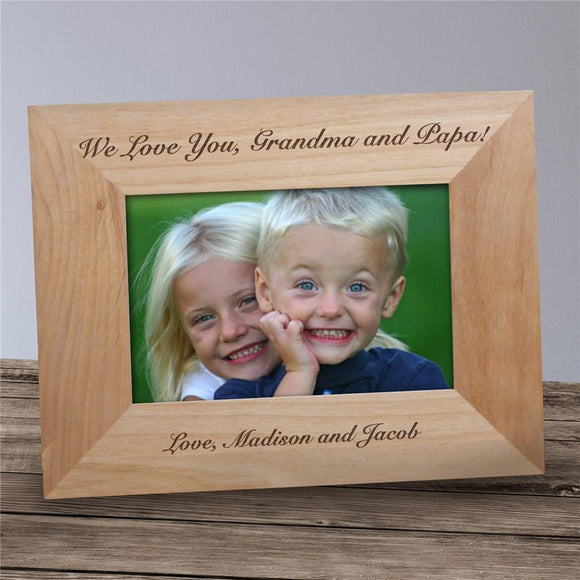 Any Message Wood Picture Frame-Personalized Gifts