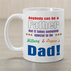 Anybody Can Be Dad Coffee Mug-Personalized Gifts