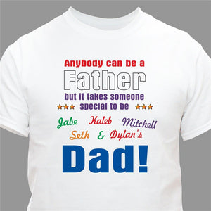 Anybody Can Be Dad Personalized T-Shirt-Personalized Gifts