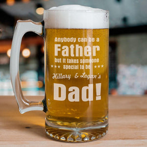 Anybody Can Be...Dad Sports Glass Mug-Personalized Gifts