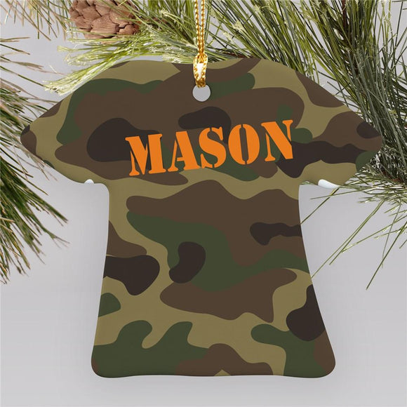 Army Camouflage T-shirt Ornament-Personalized Gifts