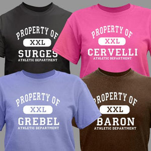 Athletic Department T-Shirt-Personalized Gifts