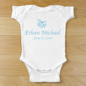 Baby Boy rocking horse creeper-Personalized Gifts