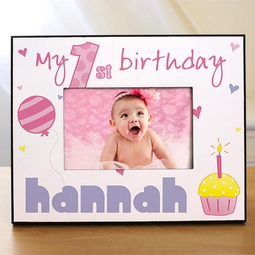 Baby Girl's 1st Birthday Printed Frame-Personalized Gifts