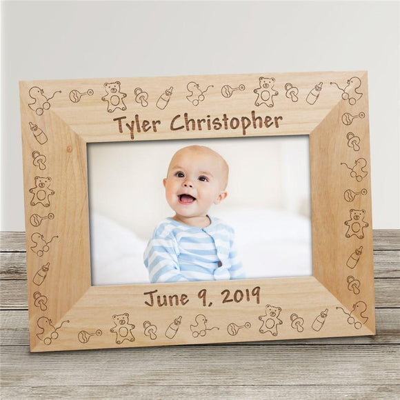 Baby Toys Baby Wood Picture Frame-Personalized Gifts