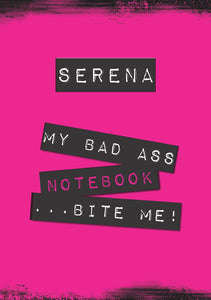Bad Ass - Bite Me! Notebook-Personalized Gifts