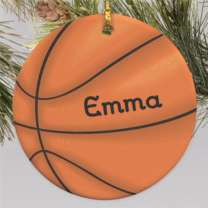 Basketball Personalized Ornament | Ceramic-Personalized Gifts