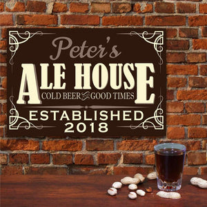 beer and fun metal sign-Personalized Gifts