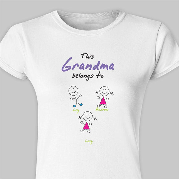 Belongs To... Personalized Womens Fitted T-Shirt-Personalized Gifts