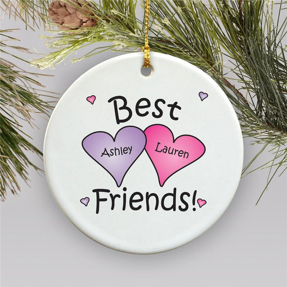 Best Friends Personalized Ornament-Personalized Gifts