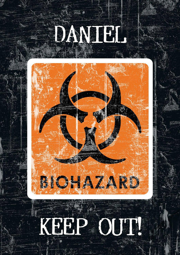 Biohazard - CAUTION Notebook-Personalized Gifts