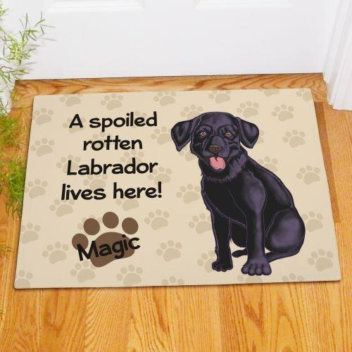 Black Lab Doormat-Personalized Gifts
